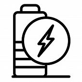 Low Charge Battery Icon. Outline Low Charge Battery Vector Icon For Web Design Isolated On White Bac poster