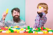Father And Son Create Constructions. Bearded Man And Son Play Together. Every Dad And Son Must Do To poster