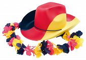 Fussball Cowboy Hat With Flower Necklace