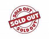 Sold Out Rubber Stamp Vector Illustration On White Background. Sold Rubber Stamp. Sold Out Imprint.  poster