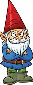 stock photo of gnome  - Angry garden gnome - JPG