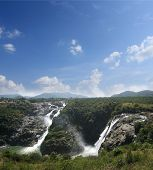Scenic Sivasamudram Waterfalls On River Cauvery Near Bangalore And Mysore & Also Called Shimsa Falls