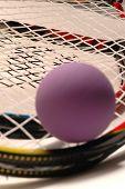 Racquet Ball Purple And Racquet