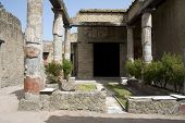 Ancient Peristyle In The Herculaneum Villa