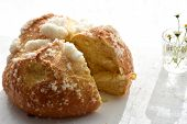 Traditional Homemade Croatian Easter Cake/ Sweet Bread Whit Sugar- Pinca/ Sirnica poster