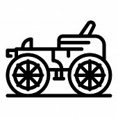 Classic Carriage Icon. Outline Classic Carriage Vector Icon For Web Design Isolated On White Backgro poster