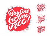 Buy One Get One Free. Vector Hand Drawn Icons Set. poster