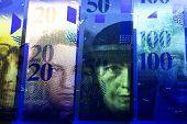 Swiss Money - Franc In Uv Rays poster