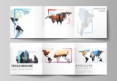 Vector Layout Of Square Format Cover Templates For Trifold Brochure, Flyer, Cover Design, Book Desig poster