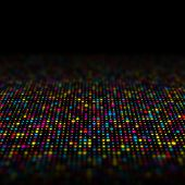 Abstract background of multi coloured techno dots with fade out blur poster