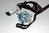 picture of cpap machine  - photographed a sleep apnea breathing machine for sleep disorders - JPG