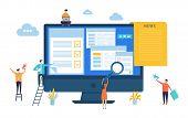 News Update. Vector Digital News, Online Newspaper Concept. Site Editing, Content Updating Illustrat poster