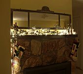 Christmas Decorated Fireplace Mantle