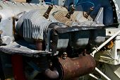 stock photo of cessna-172  - an engine from a Cessna 172 irplane