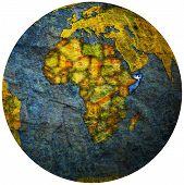 Somalia Flag On Globe Map