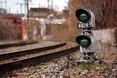 The green train signal