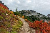 Trail To Pinnacle Peak In Fall In Washington Wilderness poster