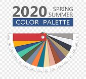 Round Spring And Summer 2020 Colors Palette On Transparent Backround. Fashion Trend Guide. Palette F poster