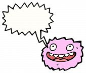 cartoon furball monster poster