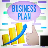 Writing Note Showing Business Plan. Business Photo Showcasing Structural Strategy Goals And Objectiv poster