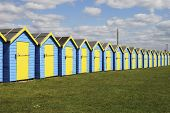 Beach Huts At Bognor Regis. UK
