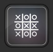 Vector Version. Tic Tac Toe Icon. Eps 10 Illustration. Easy To Edit