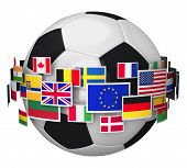 Постер, плакат: Футбол Чемпионат концепция