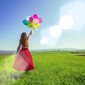 Girl With Balloon poster