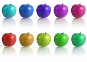 pic of unnatural  - Spectar of diferent colors of the apples - JPG