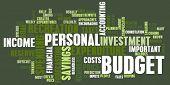 Постер, плакат: Личного бюджета и расходов Финансы как концепция
