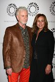 LOS ANGELES - APR 12:  Tony Geary, Genie Francis arrives at the General Hospital Celebrates 50 Years
