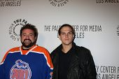 LOS ANGELES - OCT 22:  Kevin Smith, Jason Mewes arrives at  the Paley Center for Media Annual Los Angeles Benefit at The Lot on October 22, 2012 in Los Angeles, CA