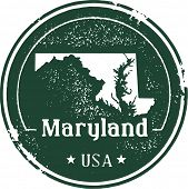 Vintage Maryland USA State Stamp