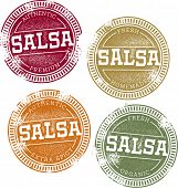 Authentic Fresh Salsa Vector Stamps