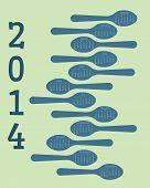 2014 spoon themed calendar