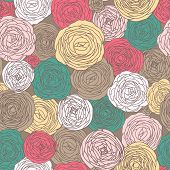 Stylish floral seamless pattern. Bright floral carpet. Seamless pattern can be used for wallpaper, pattern fills, web page backgrounds, surface textures. Gorgeous seamless floral background