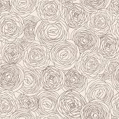 stock photo of fill  - Stylish floral seamless pattern in vector - JPG