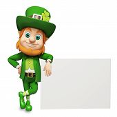 foto of leprechaun  - 3d rendered illustration of Leprechaun for st patrick - JPG