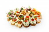 stock photo of buffet catering  - Canapes - JPG