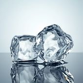 foto of hard_light  - ice cubes minimalistic background - JPG