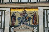 Florence - mosaics on the facade of the church of San Miniato