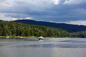 Lipno Lake, Czech Republic.