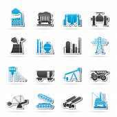 stock photo of ferrous metal  - Heavy industry icons  - JPG