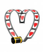 Camera Film Role With Hearts