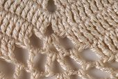 White Knitted Coverlet