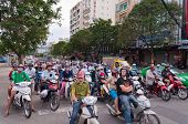 Traffic On The Street. Ho Chi Minh City. Vietnam