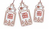 Isolated Christmas Labels With 100 Percent Free Download Sticker