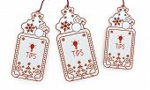 Isolated Christmas Labels With Tip Sign