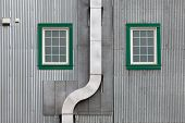 Metal Outside Duct Corrugated Iron Facade Windows
