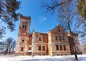 Old Brick Building On A Winter Day In Borovichi, Russia
